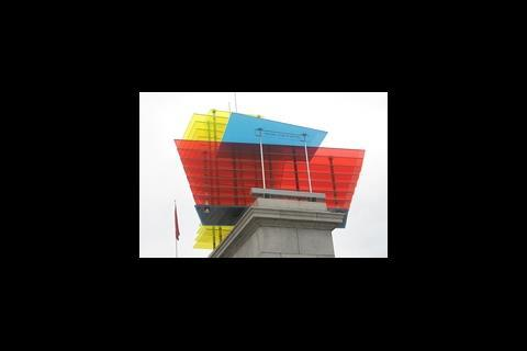 Construction model on Trafalgar Square
